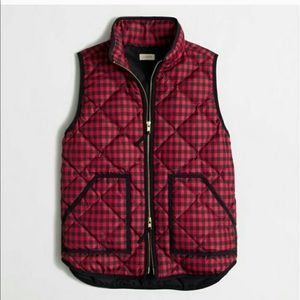 J. Crew Factory Plaid Quilted Puffer Vest